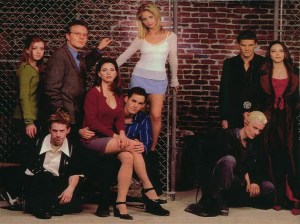 Some blond chick and the most incredible collection of characters on late 90's tv